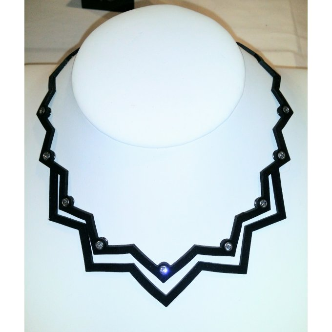 Collier chevron swarowski